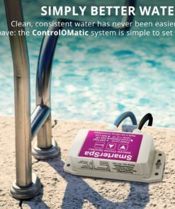 ControlOMatic SmarterSpa Saltwater Smart Chlorine Generation System for Pools, Hot Tubs, and Spas up to 1,000 Gallons - 30 Gram Maximum Daily Chlorine Generation, Built-in Chlorine Detection