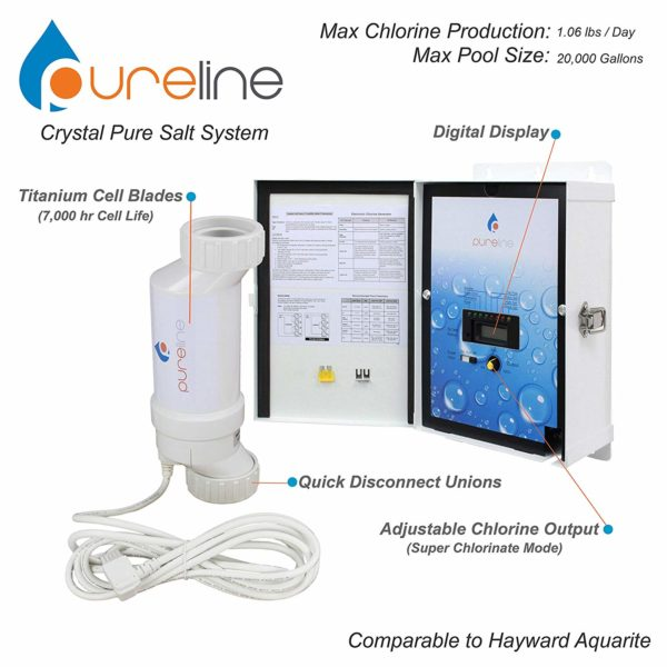 Crystal Pure Pool Salt System (20,000 gallons)