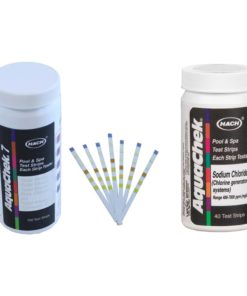 AquaChek Silver 7-Way Pool Chlorine/pH Test Strips + White Salt Titrator Strips