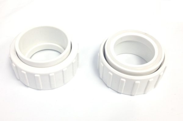 2 Pack Salt Cell 2-Inch Union, Nut, and Tailpiece Replacement For Hayward Chlorine Generators GLX-CELL-Union