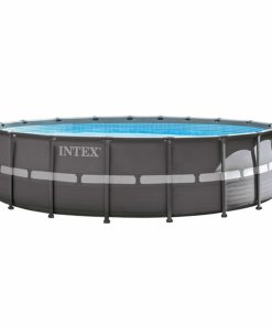 Intex 18ft X 52in Ultra Frame Pool Set with Filter Pump & Saltwater System, Ladder, Ground Cloth, Pool Cover, Deluxe Maintenance Kit & Volleyball Set