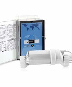 BLUE WORKS Pool Chlorine Generator Chlorinator BLH20 | for 15k Gallon Pool | with Flow Switch and Salt Cell | 5 Year Limited Warranty (Clear)