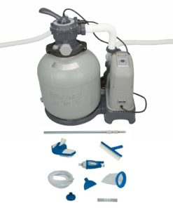 INTEX 2650 GPH Sand Filter Pump & Saltwater System Set w/ Deluxe Maintenance Kit