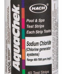 Aquachek 561161 Swimming Pool White Salt Titrators Test Kit Strips, 40 Count