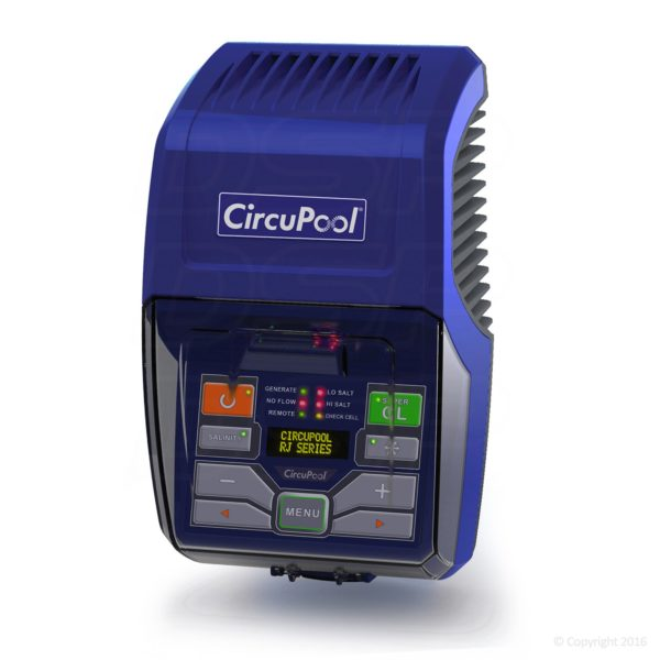 Circupool RJ30 Complete Salt Water Chlorination System for Swimming Pools. 2018 Model with 1.5 lb. Output, USA Made Titanium Cell & 5 Year Warranty; no DIY Penalty.