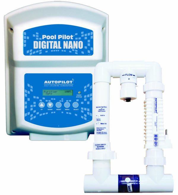 AquaCal Autopilot DN1 Digital Nano 115-volt Salt Chlorine Generator for Pools, 22000-Gallon