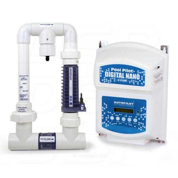Autopilot DNP2 Pool Pilot Digital Nano Plus Salt Water Chlorine Generator 220 V with RC28 Manifold
