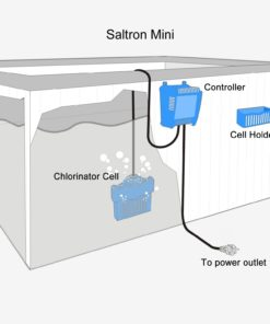 Saltron Mini Salt System Drop-In Saltwater Chlorine Generator for Hot Tubs & Swim Spas - up to 2000 Gallons