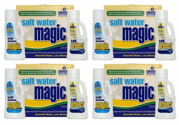 Natural Chemistry 07404 Spa Swimming Pool Salt Water Magic Monthly Chemical Kit