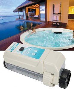 Deror 16g-h Pool Salt Chlorinator,Saltwater Chlorine Generator Electrolysis Salt Chlorinator for Pool Hot Tub Spa 100‑240V 2