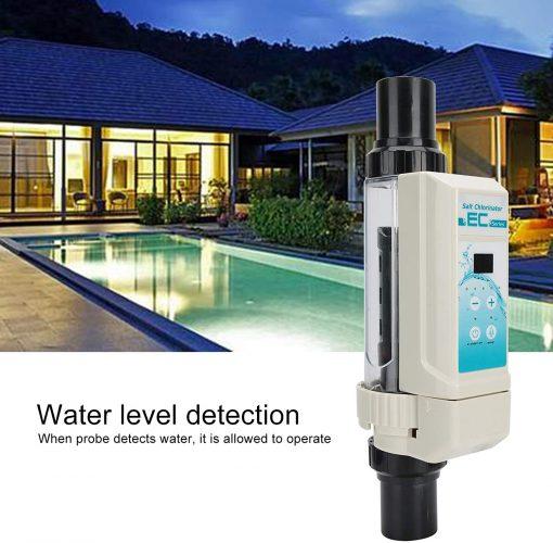 Deror 16g-h Pool Salt Chlorinator,Saltwater Chlorine Generator Electrolysis Salt Chlorinator for Pool Hot Tub Spa 100‑240V 4