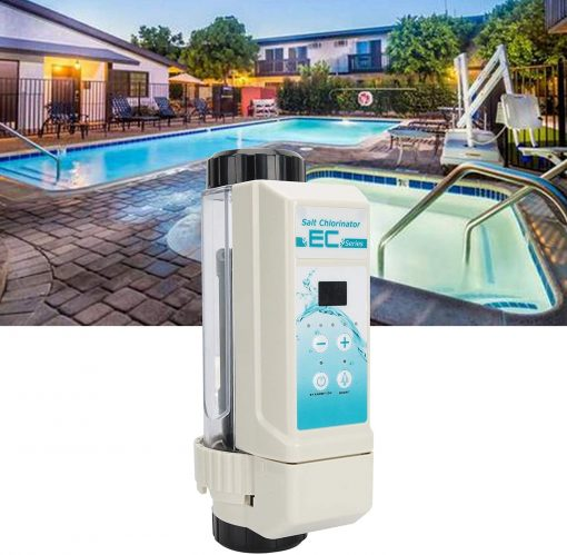 Deror 16g-h Pool Salt Chlorinator,Saltwater Chlorine Generator Electrolysis Salt Chlorinator for Pool Hot Tub Spa 100‑240V 5