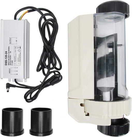 Deror 16g-h Pool Salt Chlorinator,Saltwater Chlorine Generator Electrolysis Salt Chlorinator for Pool Hot Tub Spa 100‑240V 9