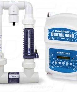 Pool Pilot Autopilot DNP2 Digital Nano Plus Salt Water Chlorine Generator 220 V with RC28 Manifold