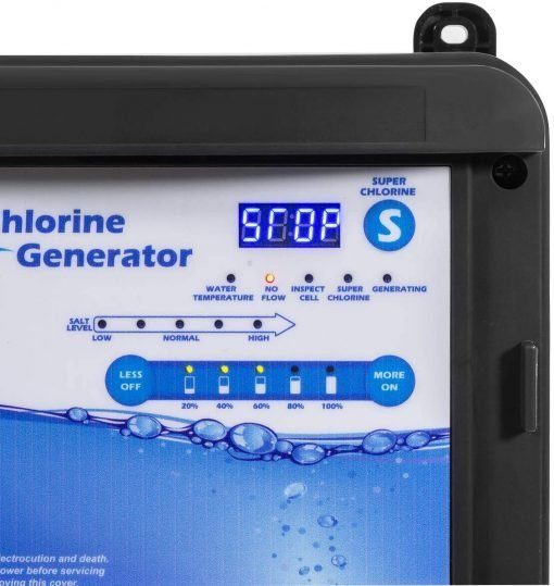 XtremepowerUS 90146 Complete Salt System Electronic Generator Chlorination Easy DIY Installation for Swimming Pools up to 35,000 Gallons, Black 5